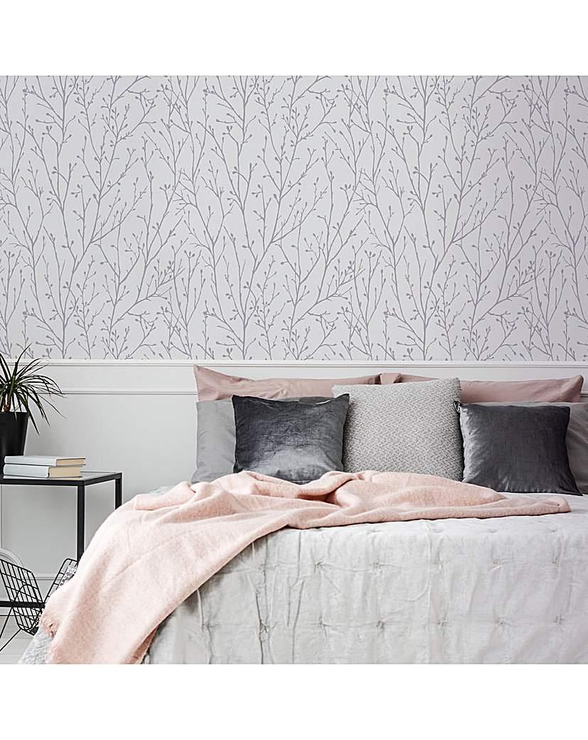 Willamena Motif Silver & White W/Paper