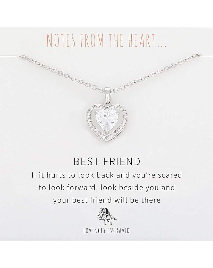 Best Friend Heart Pendant