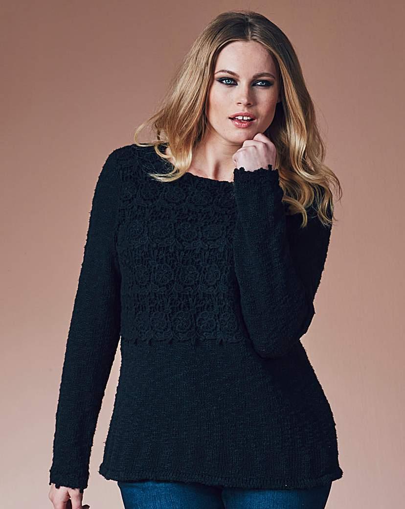 Simply Be Crochet Trim Jumper