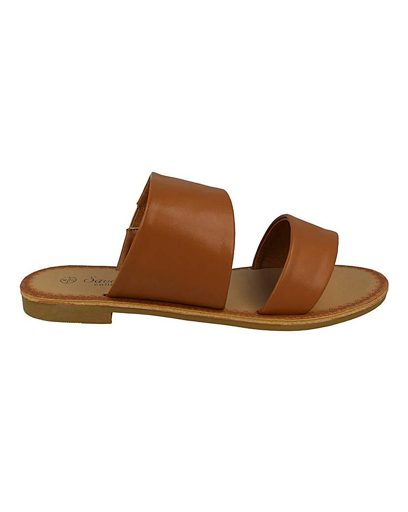 Simply Be Two Strap Sandal Wide Fit