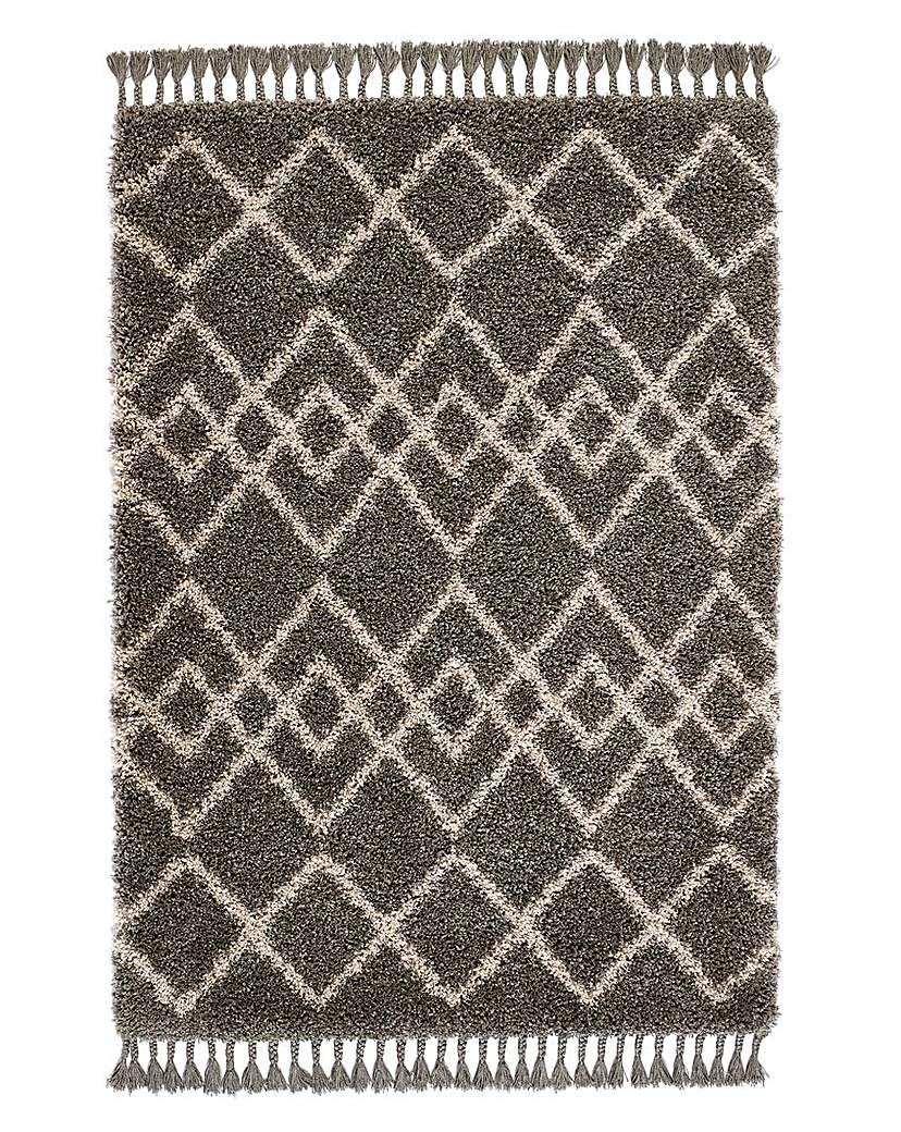 Simply Be Imperial Aztec Fringe Shaggy Rug