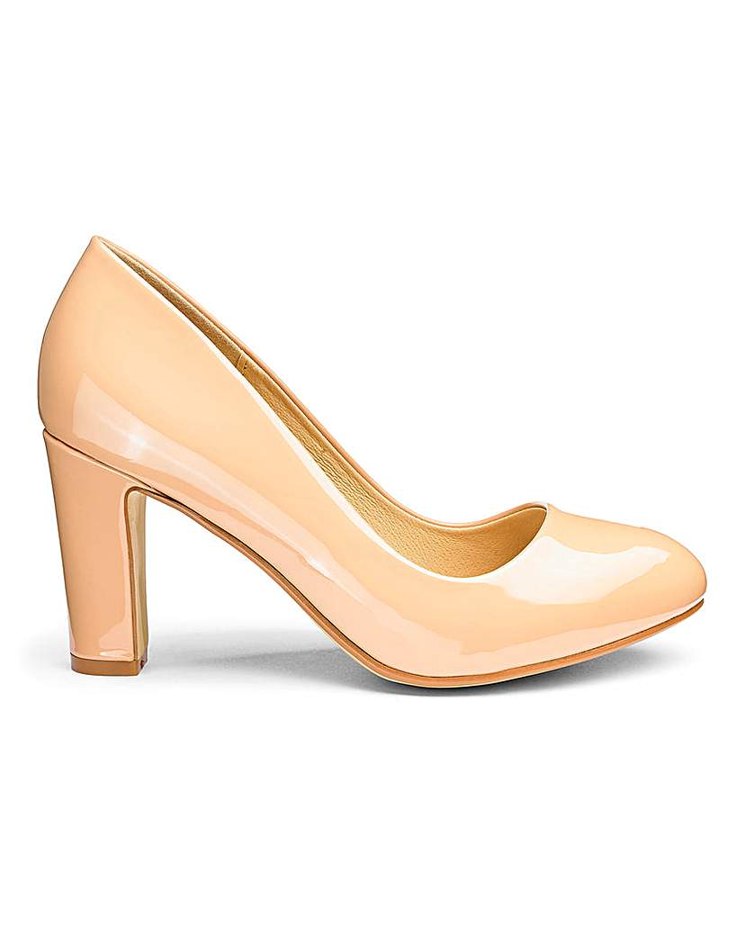 Simply Be Heavenly Soles Almond Court Shoes E Fit