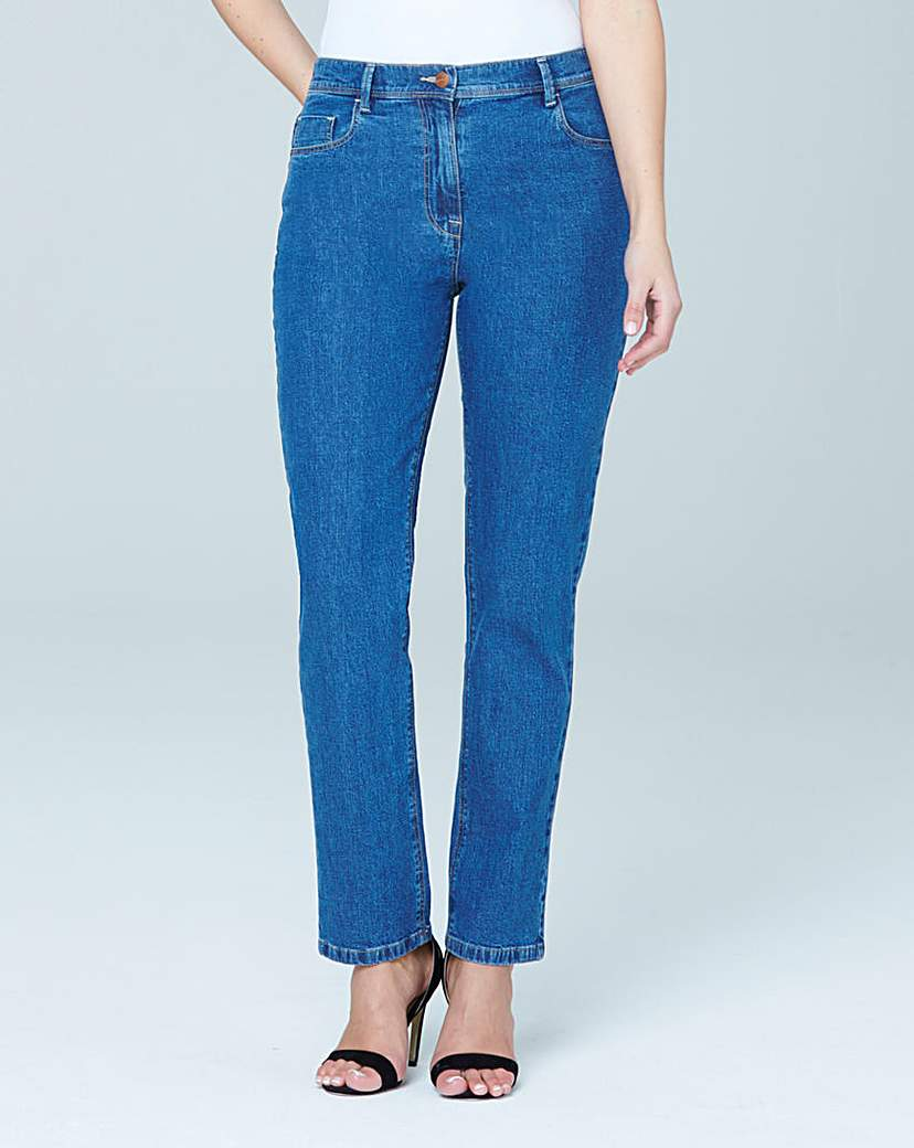 Simply Be Straight Leg Jeans Extra Short