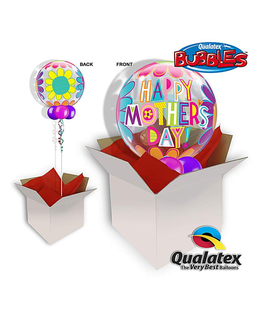 Image of Happy Mothers Day Bubble Balloon In Box
