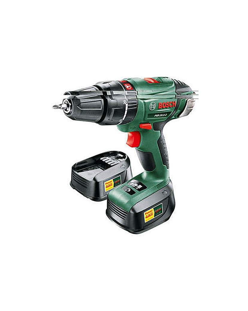 Image of 18 2AH Hammer Drill with 2 Batteries-18V