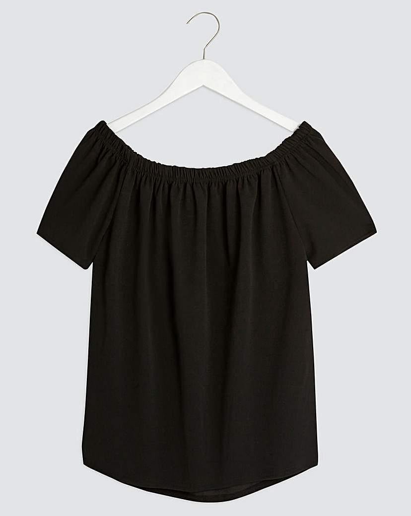 Simply Be Black Bardot Top