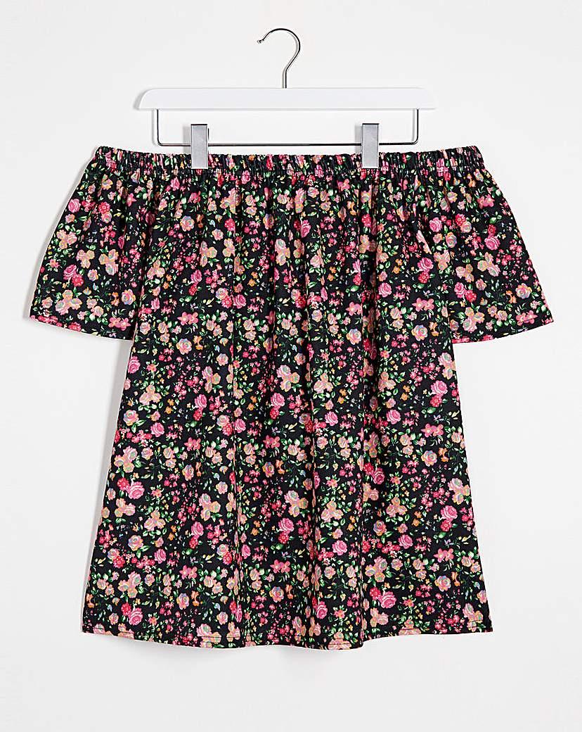 Simply Be Pink Floral Print Bardot Top