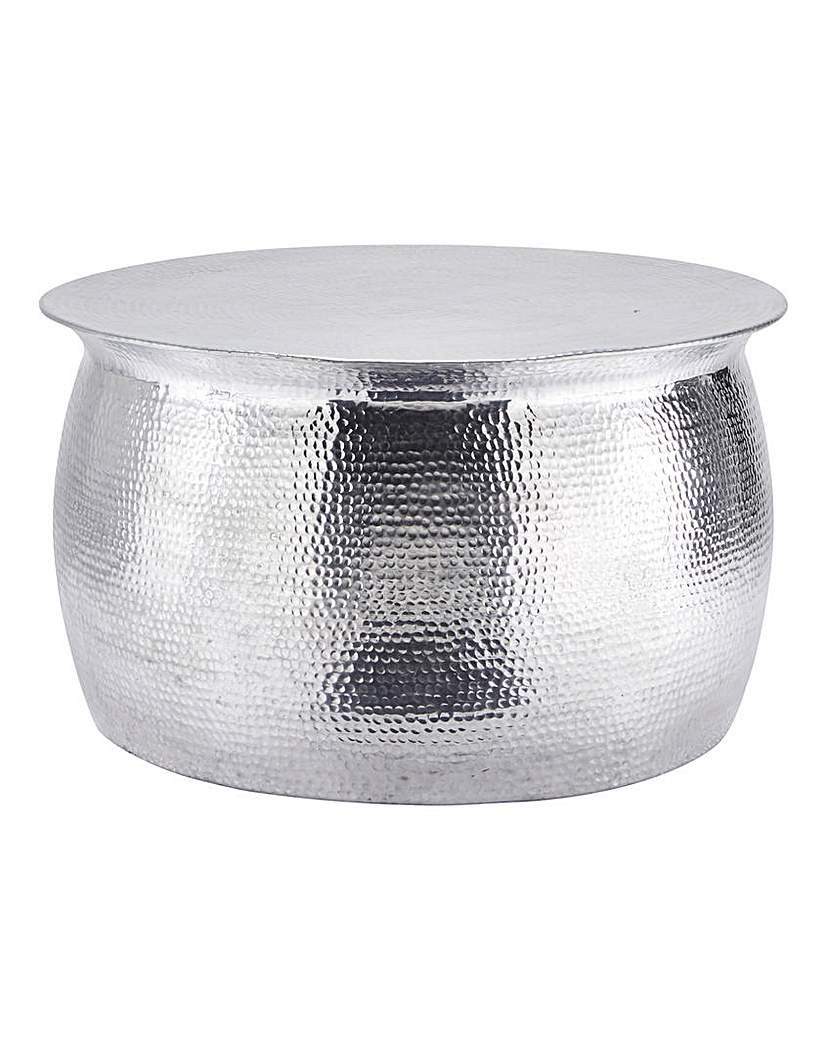 Image of Artisan Hammered Metal Coffee Table