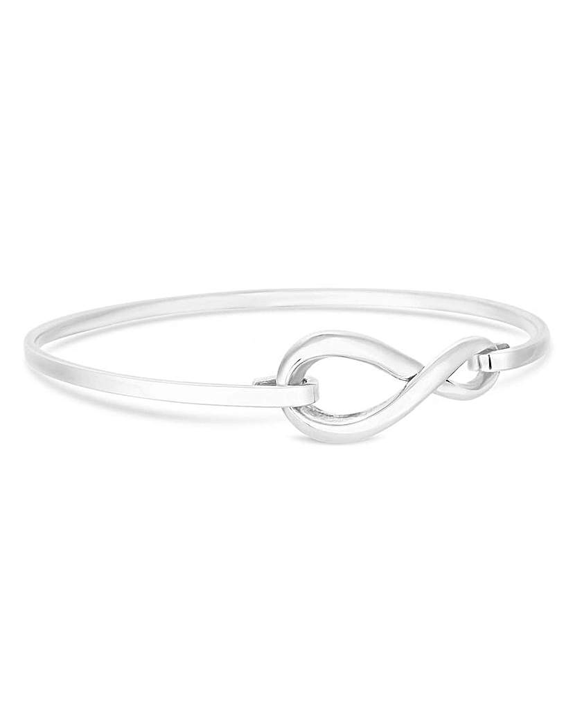 Simply Silver Infinity Clasp Bangle