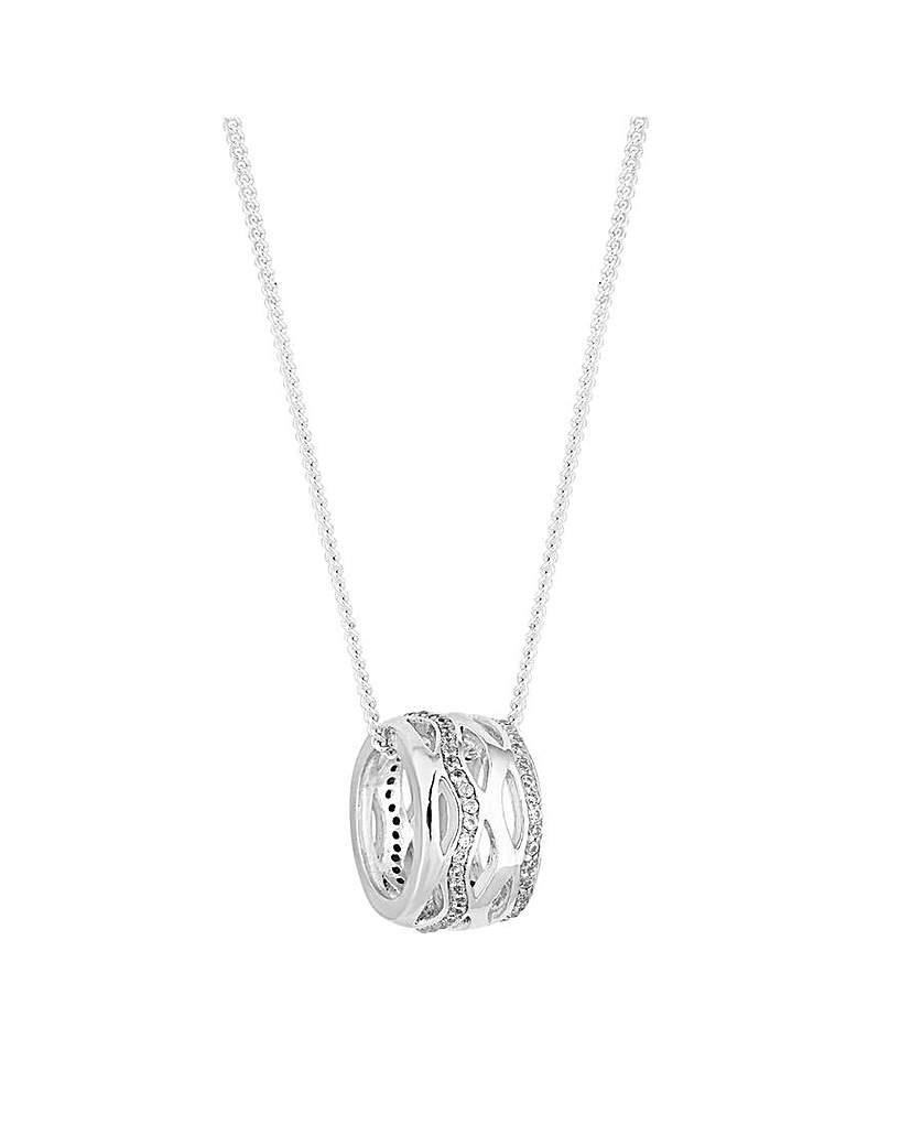 Simply Silver Barrel Pendant