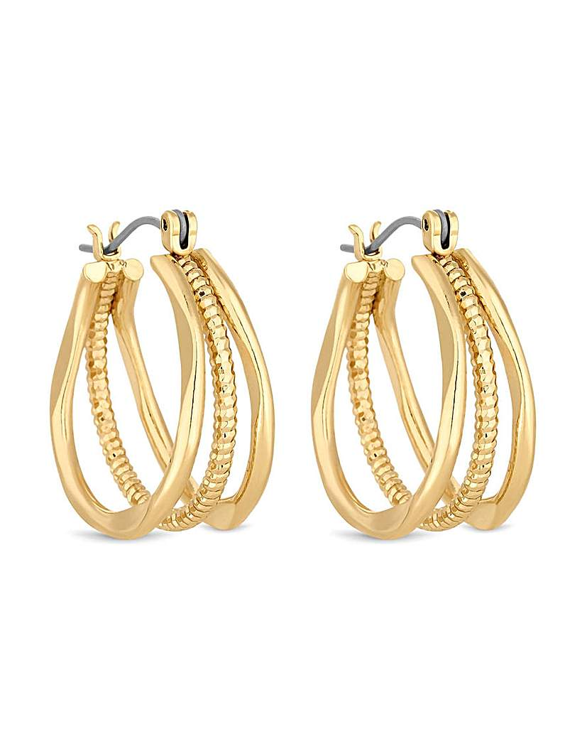 Jon Richard Three Ring Hoop Earring