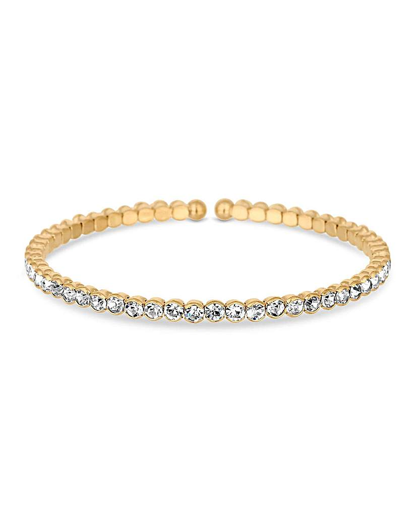 Jon Richard Gold Tennis Cuff Bangle
