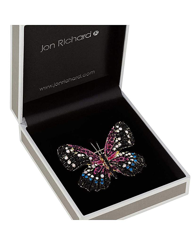 Image of Jon Richard Crystal Pave Butterly Brooch