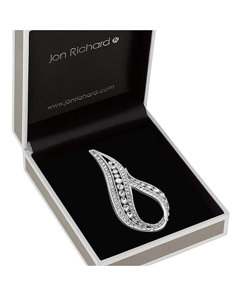Image of  			   			  			   			  Jon Richard Stone Pave Infinity Brooch