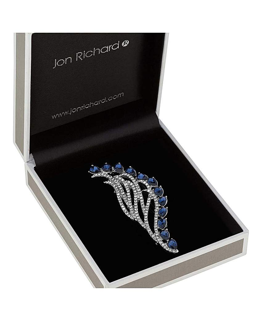 Image of  			   			  			   			  Jon Richard Montana Navette Pave Brooch