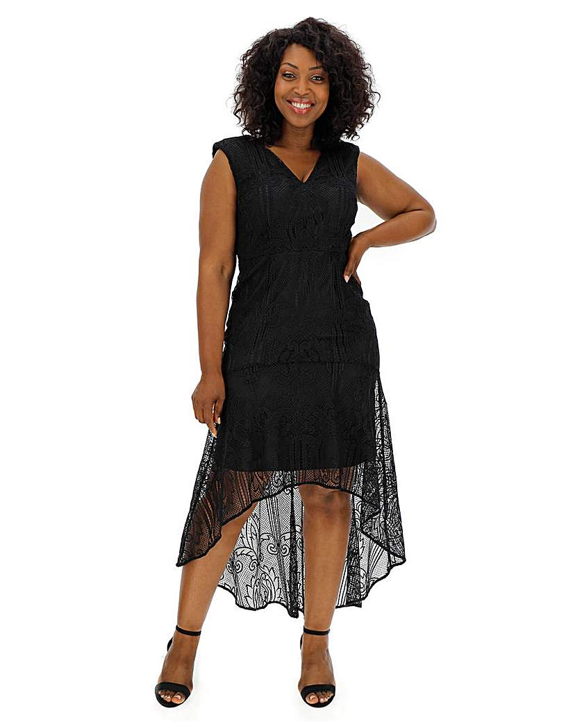 Vintage 1920s Dresses – Where to Buy Coast Cato Black Lace Dress £111.00 AT vintagedancer.com