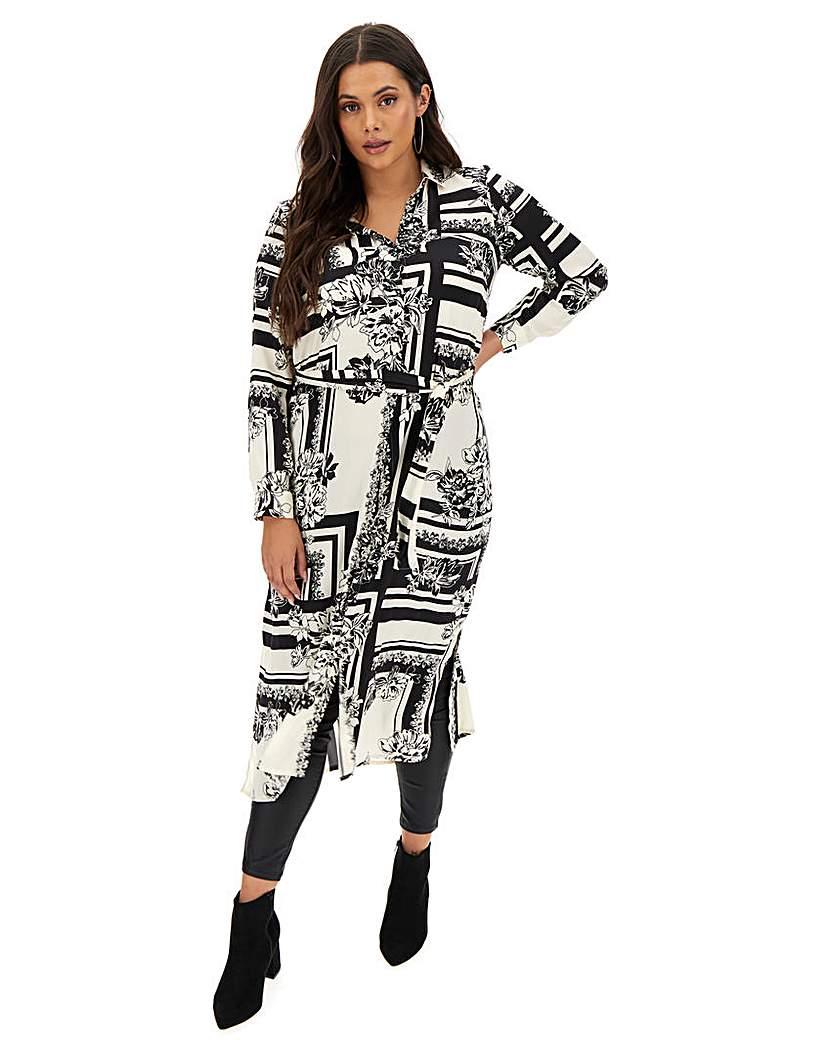 Vero Moda Abstract Print Shirt Dress