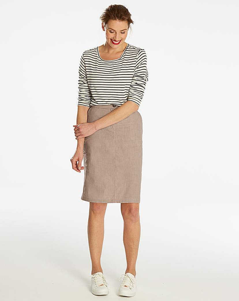 Simply Be Basic Cotton Pencil Skirt