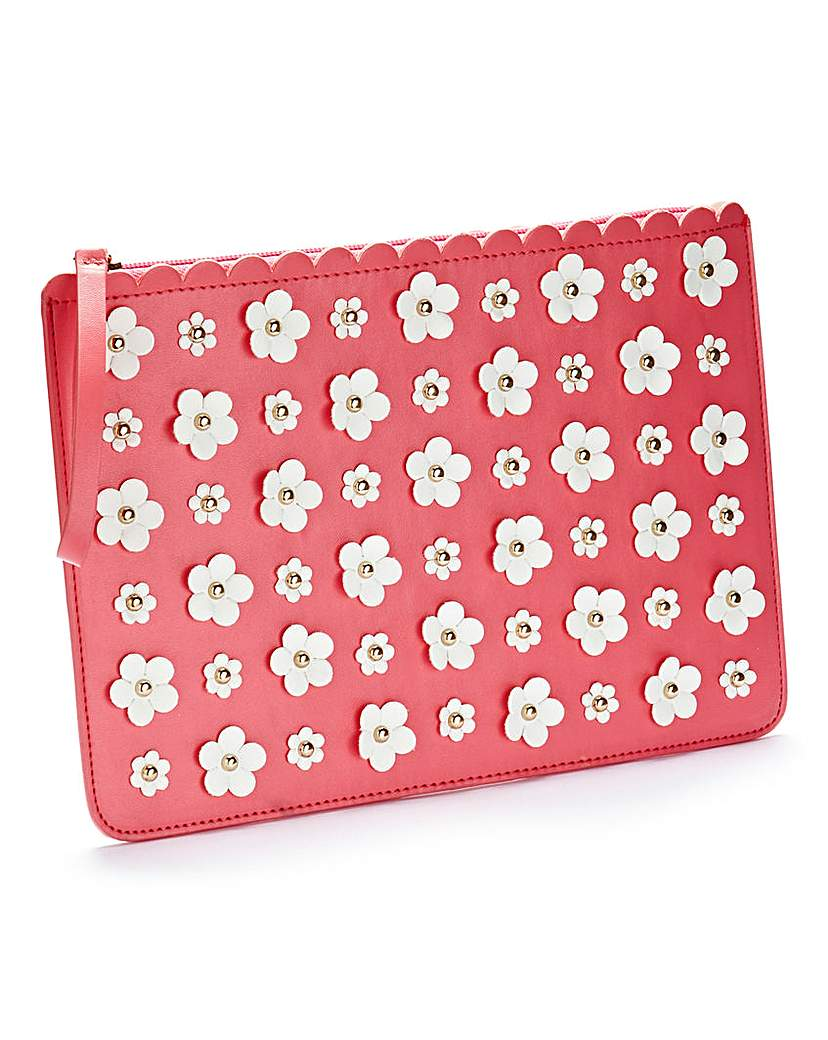 Simply Be 3D Flower Embellished Clutch Bag