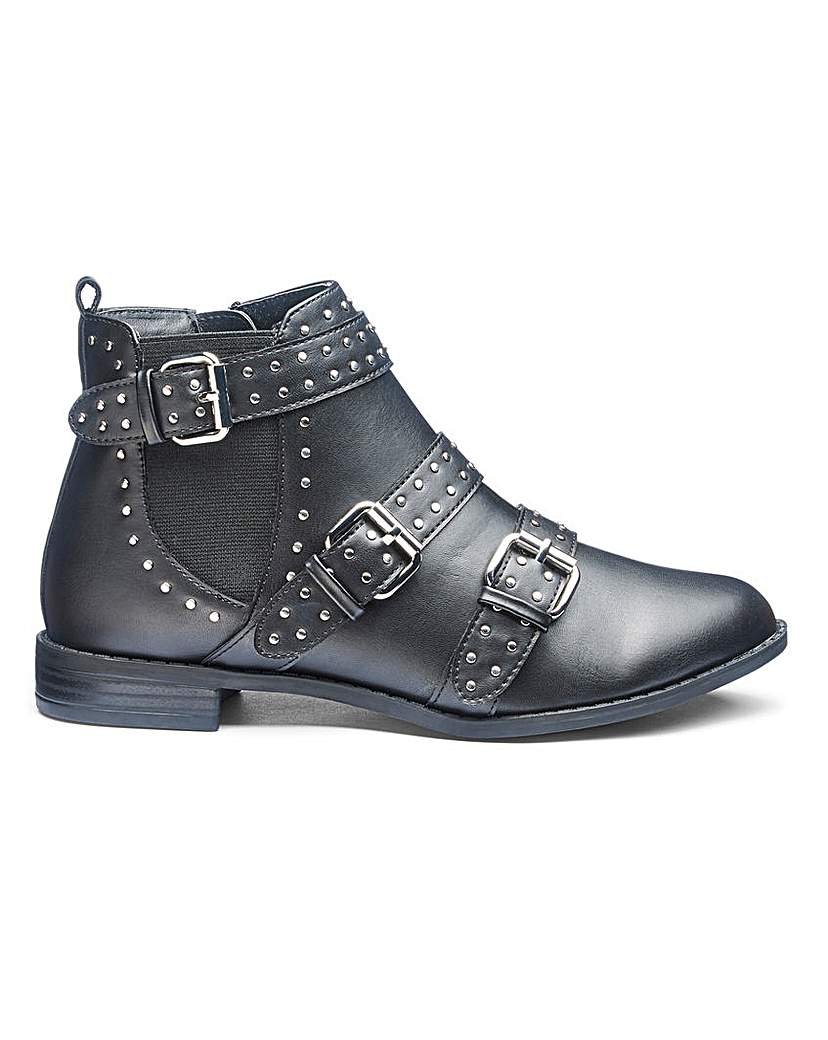Simply Be Indiana Stud Boots E Fit