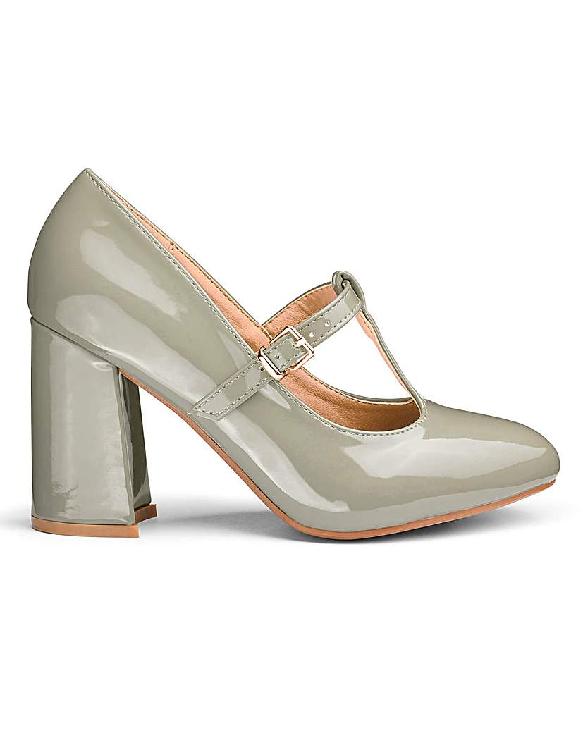 Simply Be Sole Diva Slanted Heel Court Shoes E Fit