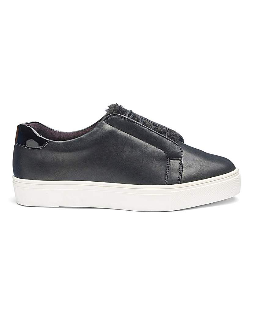 Simply Be Marlow Faux Fur Trainers E Fit