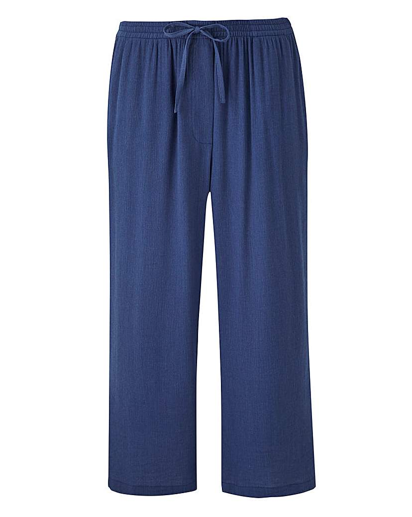 Cropped Crinkle Trousers