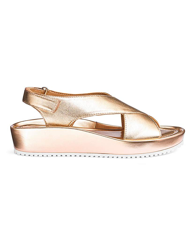 JD Williams Leather Crossover Sandals E Fit