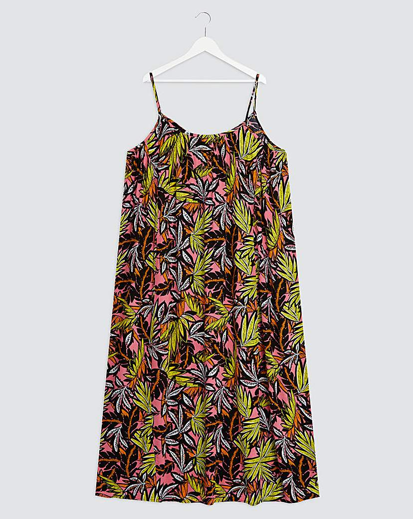 Simply Be Tropical Trapeze Crinkle Maxi Dress