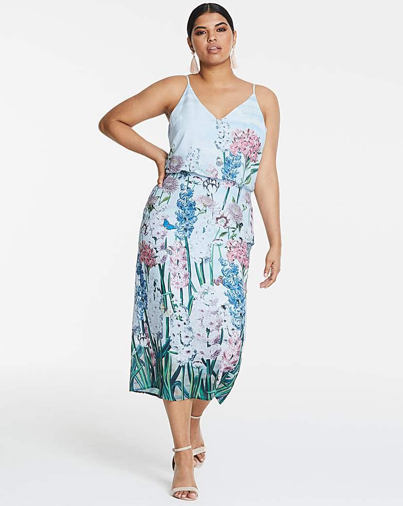 Oasis NHM Placement Midi Dress