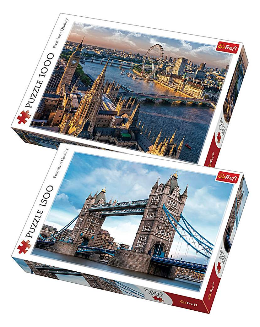 Image of 1500 & 1000 pc London Puzzles 2 Pack