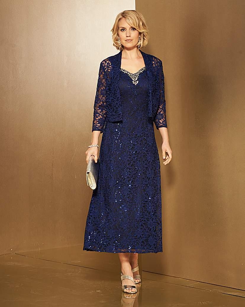 1930s Dresses, Shoes, Lingerie, Clothing UK Nightingales Lace Dress And Jacket £120.00 AT vintagedancer.com