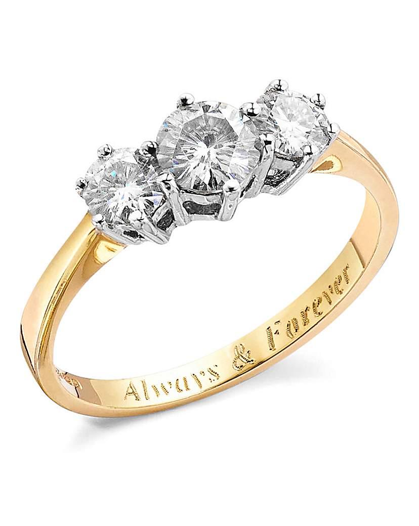 1 Carat Personalised Moissanite Ring