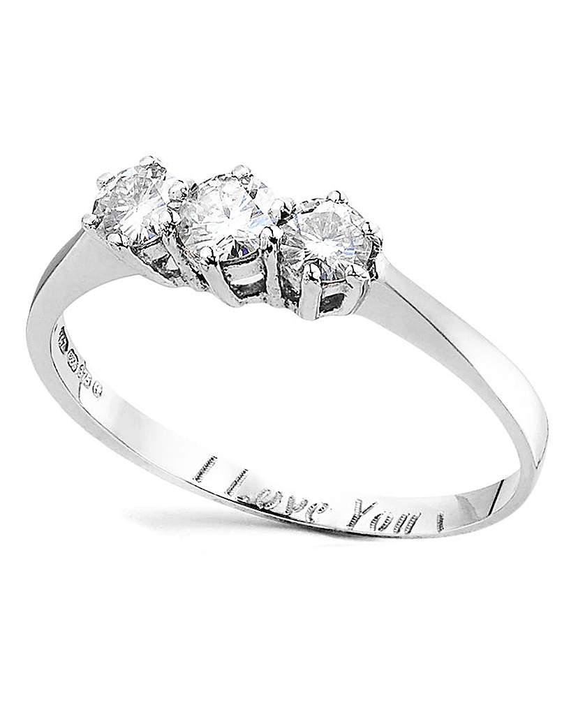 Image of 1/2 Carat Personalised Moissanite Ring