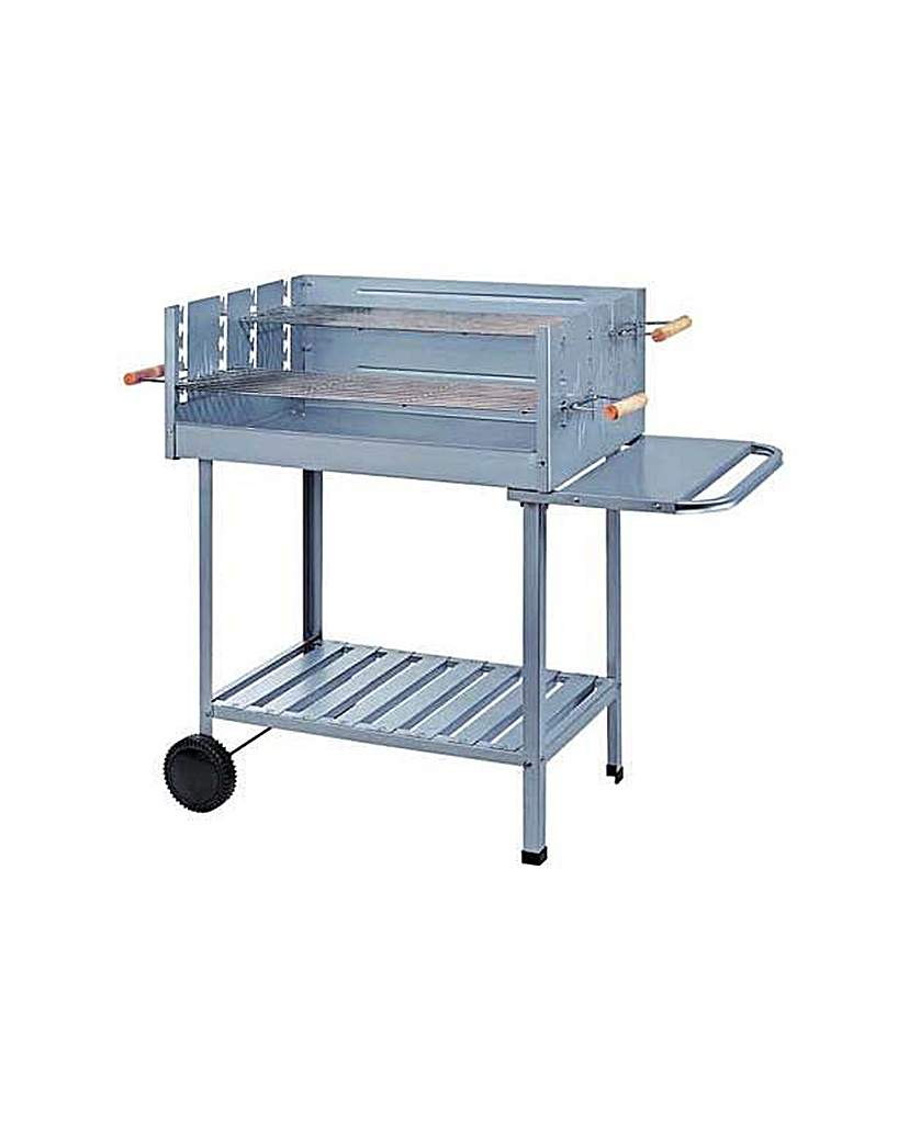 Image of Charcoal Rectangle Steel Party BBQ