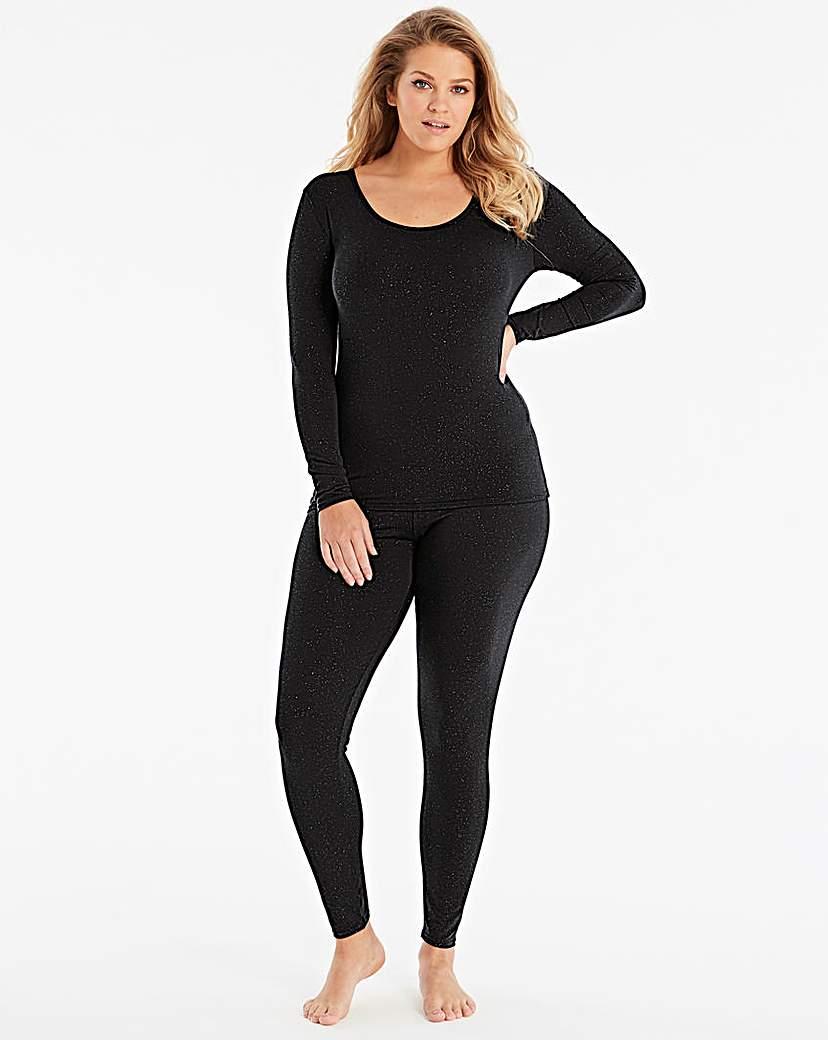Thermal Black Sparkle Leggings