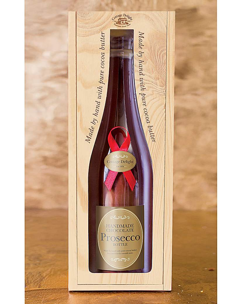 Image of Milk Chocolate Prosecco Bottle