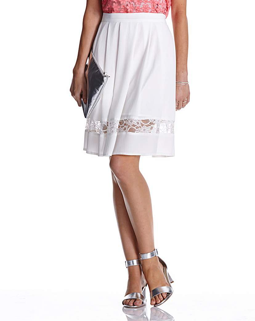 Simply Be Lace Panelled Skirt