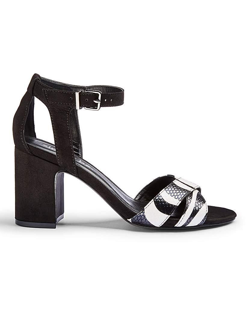 Simply Be Helen Mid Block Heels Wide Fit