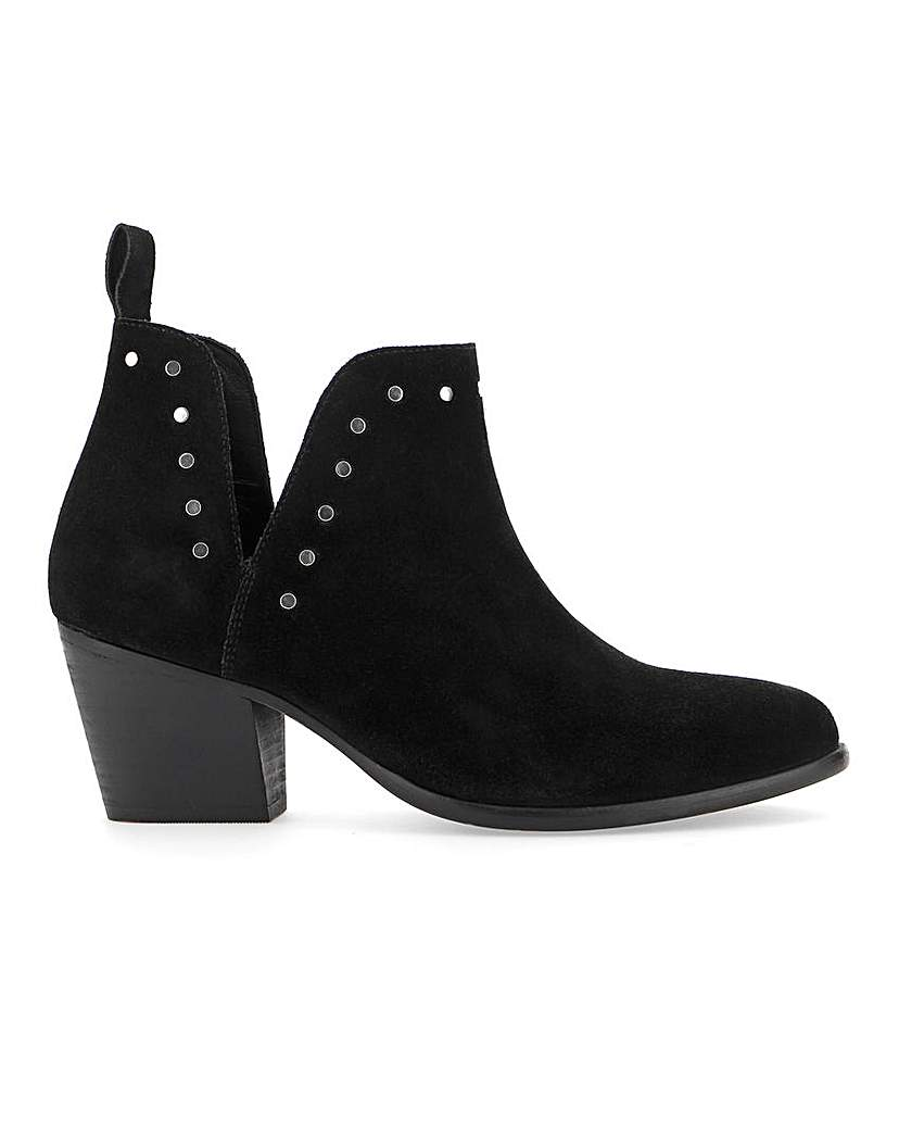 Simply Be Bree Suede Cut Out Boots Wide Fit