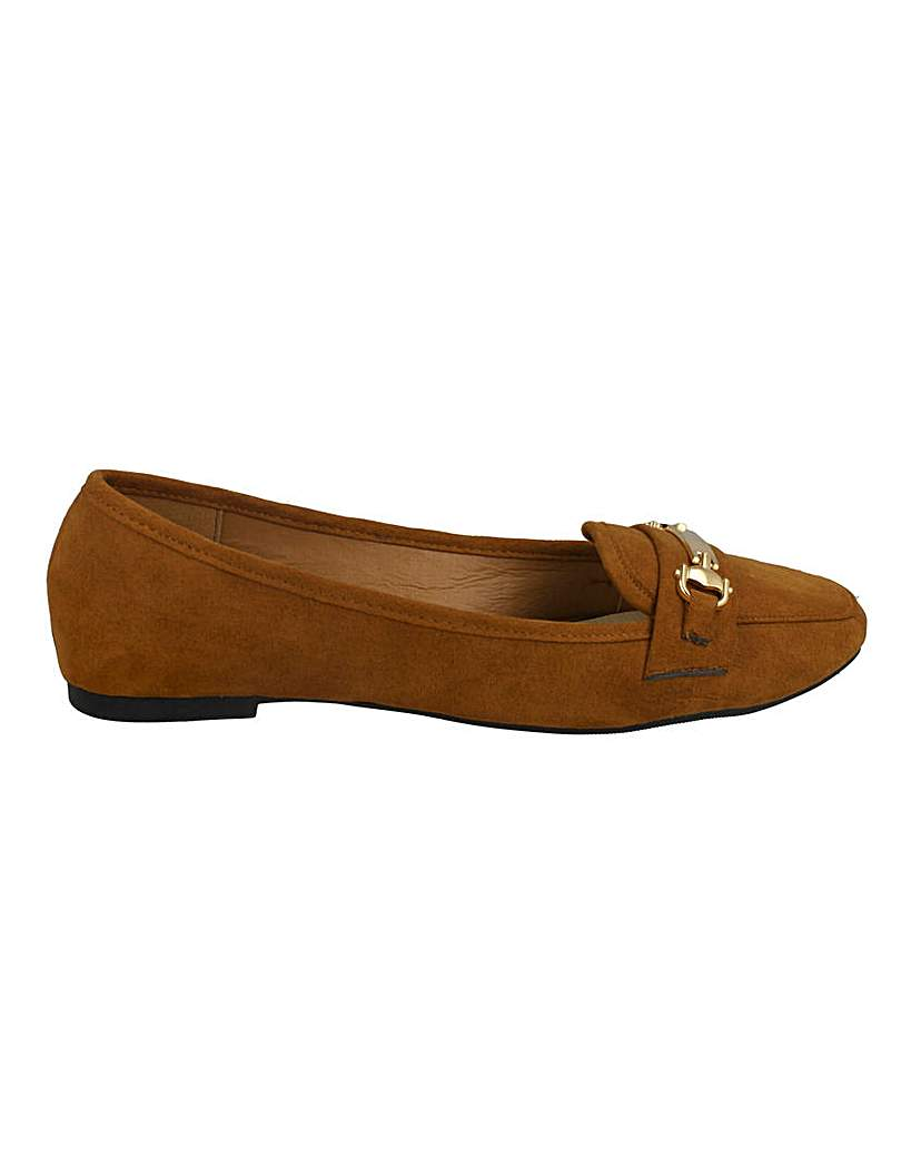 Simply Be Metal Hardware Loafers Standard Fit