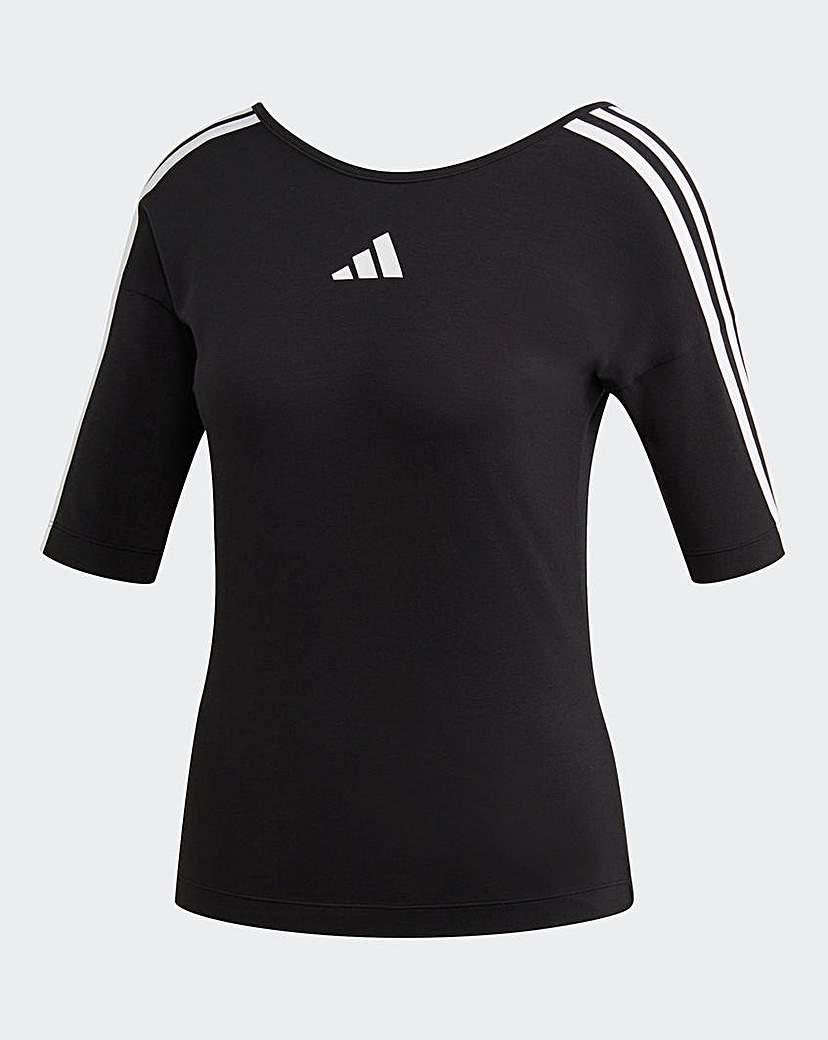 Adidas adidas Open Back 3 Stripe Tee