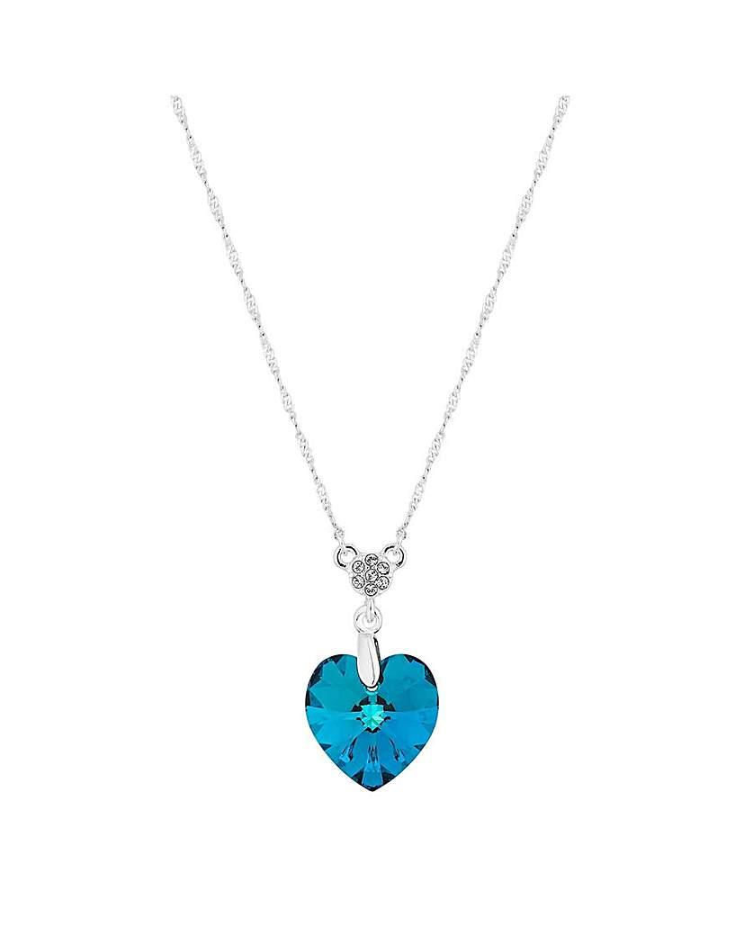 Jon Richard Blue Pave Heart Pendant