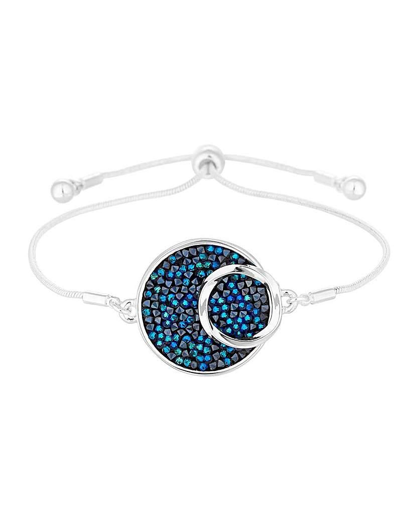 Jon Richard Blue Crystal Rocks Bracelet