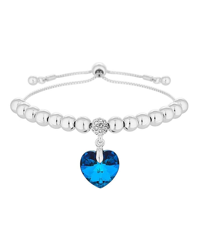 Jon Richard Blue Heart Toggle Bracelet