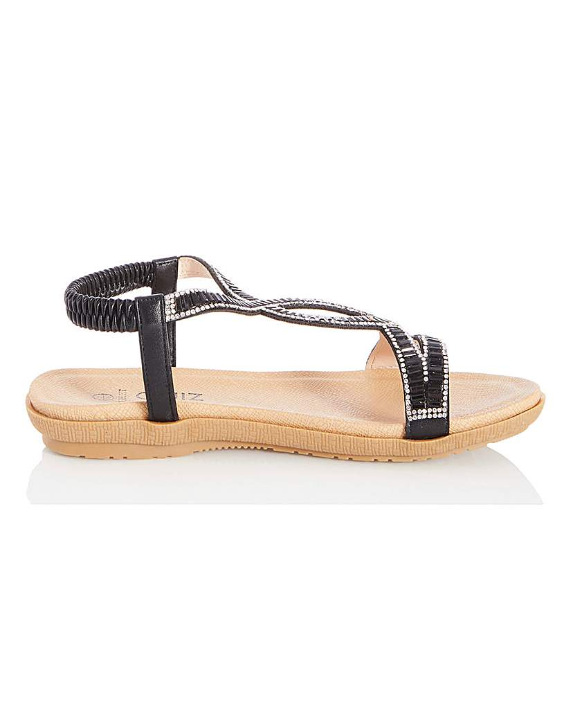 Quiz Quiz Sling Back Diamante Sandals