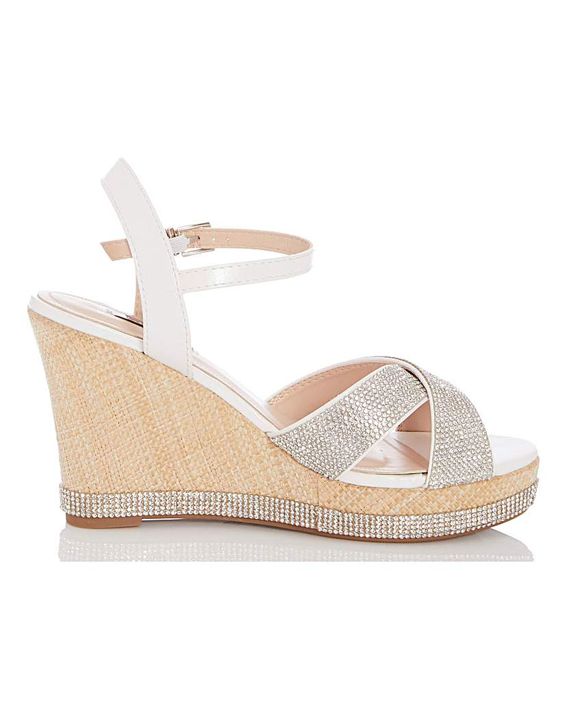 Quiz Quiz Glitter Wedge Sandals