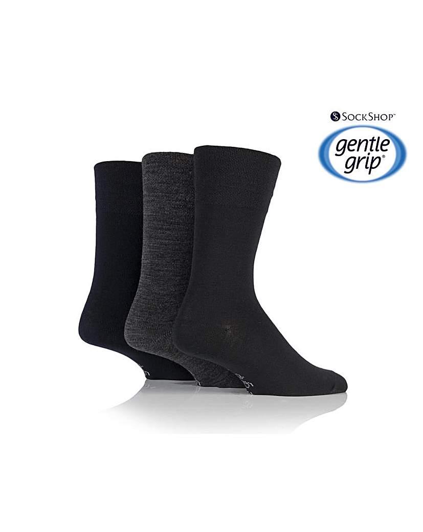 3 Pair Gentle Grip Socks