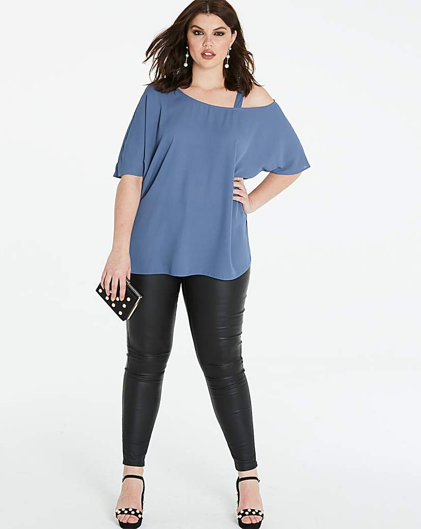 Simply Be Moonlight Blue Off The Shoulder Blouse