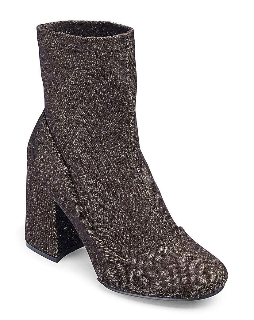 Glamorous Glitter Sock Boot